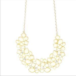 Cream Cluster Bib Necklace